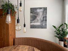 Klantfoto: Verlaten plekken: Sphinx fabriek Maastricht lichtstralen van Olaf Kramer, op canvas