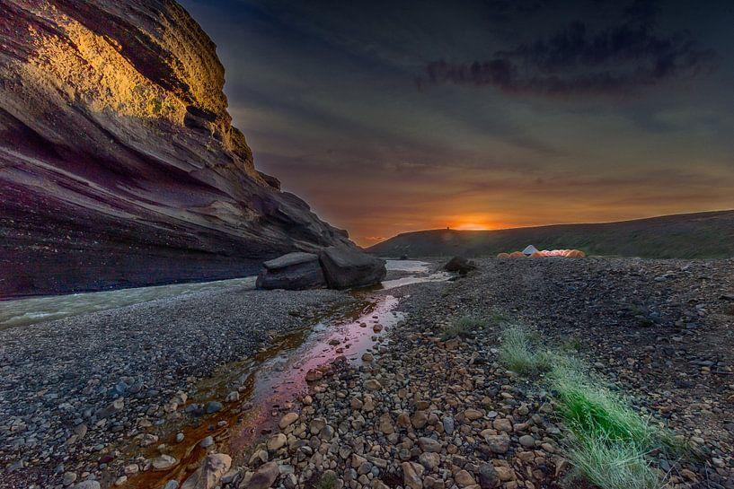 River sunset van Jack Soffers