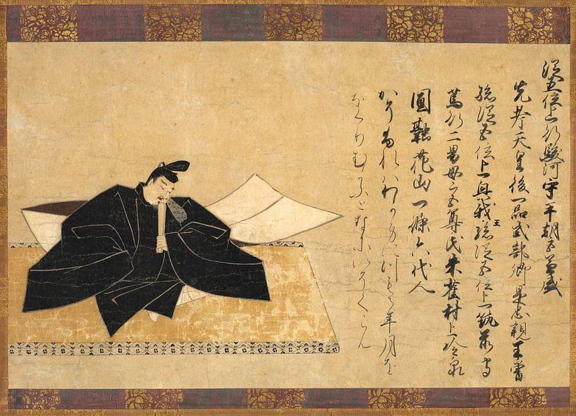 De dichter Taira No Kanemore van 1000 Schilderijen