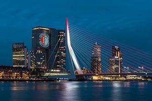 Feyenoord-Projektion zu 'De Rotterdam' von Midi010 Fotografie