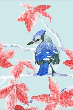 Winter Bird sur Goed Blauw