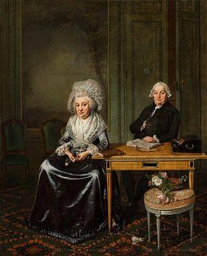 Portret van Jacob Feitama en zijn echtgenote, Wybrand Hendriks