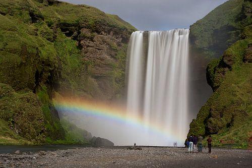Skógafoss rainbow van