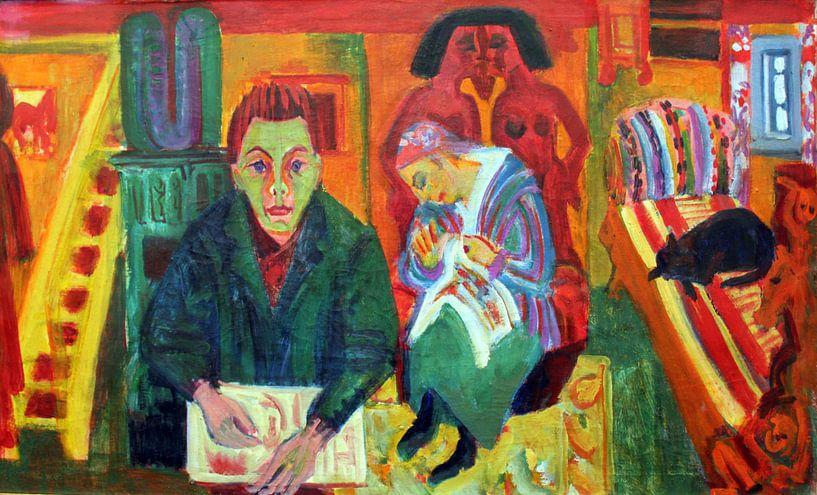 Ernst Kirchner.Das Wohnzimmer von 1000 Schilderijen
