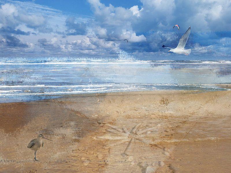Impressions de la plage de la mer du Nord sur Geert van Kuyck
