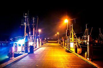 s Nachts in de vissershaven van Norbert Sülzner