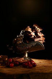 Chocolade met cranberrys van Diana van Geel