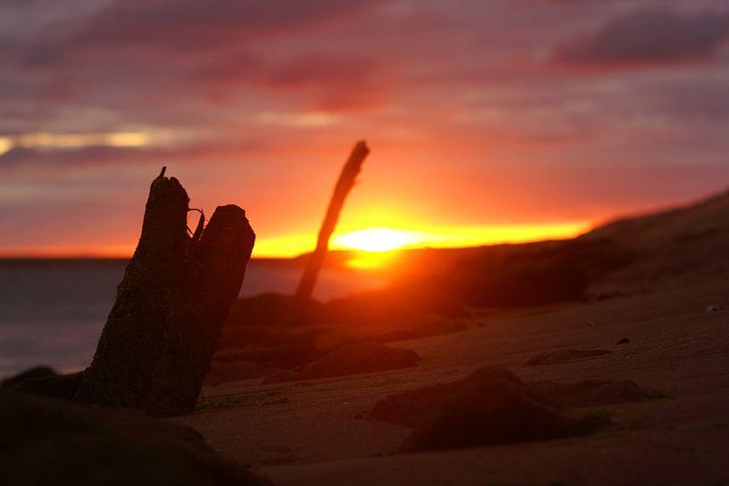 spectaculaire zonsondergang van Dirk van Egmond