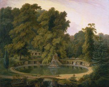 Thomas Daniel~Tempel, Brunnen und Höhle im Park von Sezincote