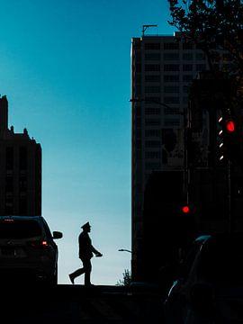 Silhouet in San Francisco van Rutger van Loo
