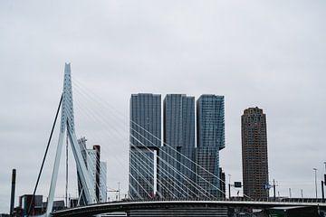 Skyline von Rotterdam von Michael Jansen