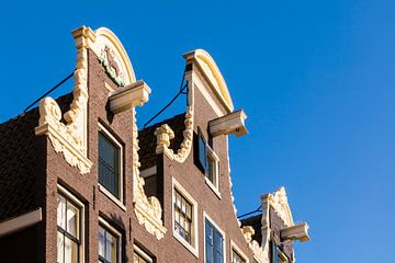 Huisgevel in de Prinsengracht van Amsterdam van Werner Dieterich
