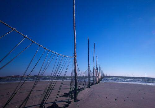Texel Fischernetz am Strand