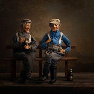 Twee oude mannetjes van Carolien van Schie