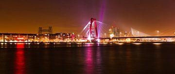 Rotterdam in de nacht van Susanne Viset