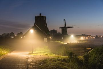 Brouillard à Zaanse Schans