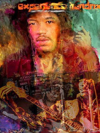 Jimi Hendrix Pop Art Canvas