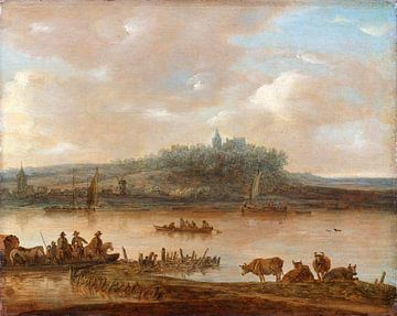 Blick auf den Rhein und den Elterberg, Jan van Goyen