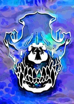 Angry Skull Doge van Samuel Chocron