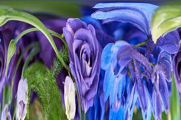 Verrückte Blumen (1) von Wim van Berlo