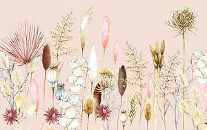 Getrocknete Blumen und Pampusgras von Geertje Burgers