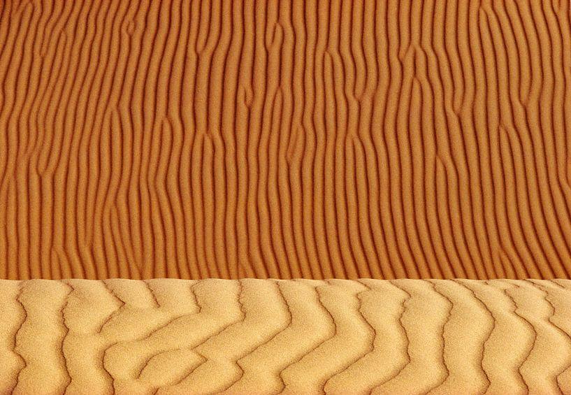 Détail d'une dune de sable dans le désert du Sahara. sur Frans Lemmens