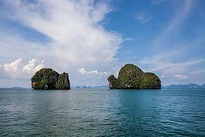 Landschappen van het Nationale Park van Phang Nga in Thailand