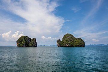 Landschappen van het Nationale Park van Phang Nga in Thailand van Tjeerd Kruse