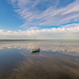 Wachten op hoog water op het wad van Texel von Texel360Fotografie Richard Heerschap