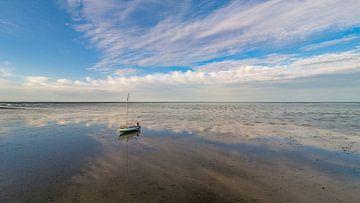 Wachten op hoog water op het wad van Texel sur Texel360Fotografie Richard Heerschap