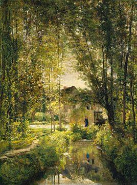Landschaft mit einem sonnenbeschienenen Strom, Charles-François Daubigny