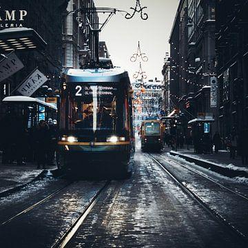 trams in the winter von mauryn burgmeijer