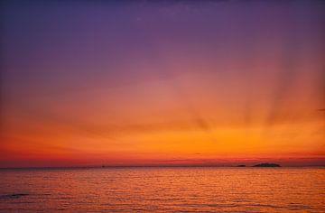 Zonsondergang Funtana, Kroatië van Patrick van Oostrom