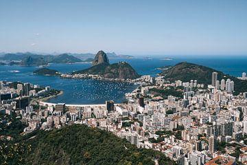 Ausblicke über Rio de Janeiro, Strände, Berge und den Zuckerhut von Michiel Dros