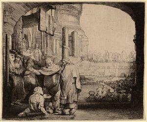 Petrus en Johannes maken de lamme beter bij de Poort van de Tempel