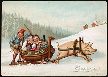 Humoristisk julemotiv (2), Wilhelm Larsen van De Canon