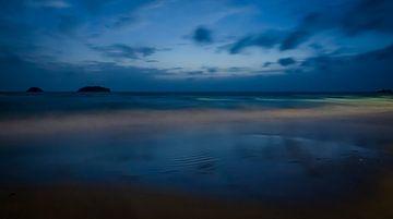 Blauw strand van Sven Wildschut