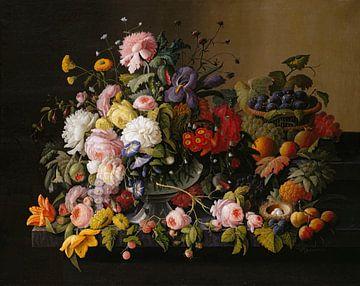 Severin Roesen-Stillleben Blumen und Früchte