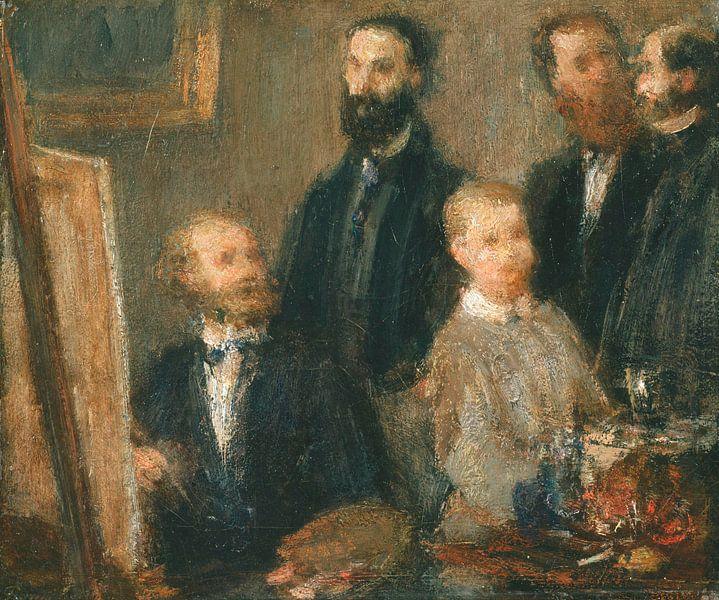 Manet in seinem Atelier, Henri Fantin-Latour von Meesterlijcke Meesters