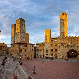 Tours de San Gimignano au coucher du soleil sur Arja Schrijver Fotografie