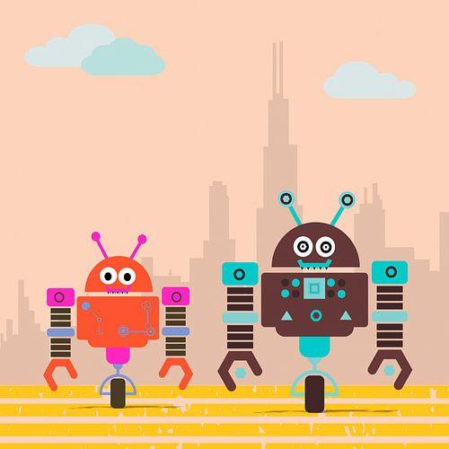 kleine Roboter Monster unterwegs