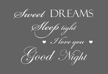 Sweet dreams - Donker grijs van Sandra H6 Fotografie