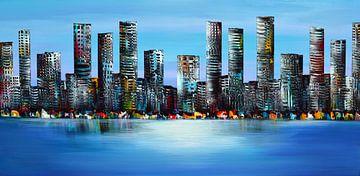 Skyline Stadt von Gena Theheartofart