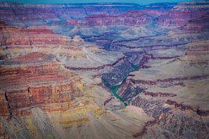 De veelkleurigheid van de Grand Canyon van