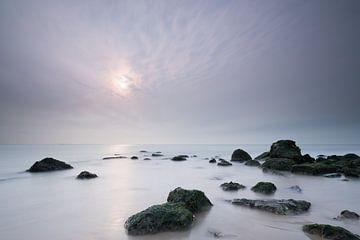 Noordzeestrand in de mist  van