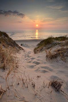 Dünenansicht mit Sonnenuntergang von Martin Jansen