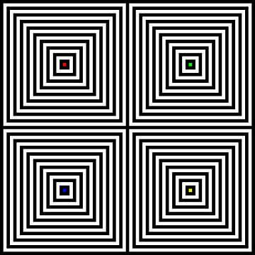 Genesteld | Center | 02x02 | N=10 | RGBY van Gerhard Haberern