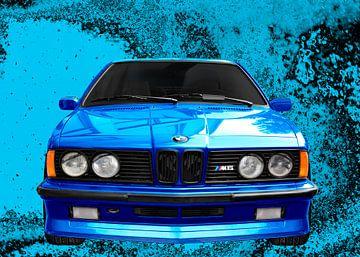 BMW M635CSi E24 in blauw van aRi F. Huber