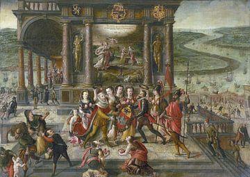 Hans Vredeman de Vries, Allegorie der Wiederbelebung Antwerpens nach dem Sieg von Alexander Farnese, von Atelier Liesjes