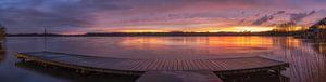 Mooie zonsondergang bij de Amstelveense Poel op 12 april 2016